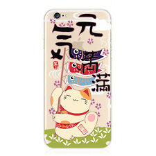Chinese style Painted Clear TPU Soft Phone Case Cover For iPhone 5S SE 6 6S Plus