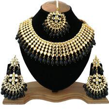 Gold Plated PartyWear Necklace Jewelry Meena Kundan Gorgeous Design Wedding Look