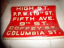 NYC BUS SIGN BROOKLYN FIFTH AVENUE HIGH PROSPECT PARK COLUMBIA 9TH NY ROLL SIGN