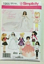 Simplicity Pattern 1955 Barbie Bratz Moxie Doll Clothes Princess Wedding Dress