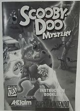 SNES Scooby Doo Mystery Black & White INSTRUCTION BOOKLET MANUAL ONLY! NO GAME!