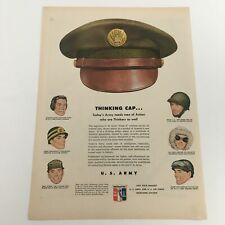 1950 U.S. Army and U.S. Air Force Recruiting Station Vintage Print Ad