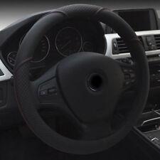 Auto Car 38CM Steering Wheel Cover Protector Microfiber Leather Anti-skid Black