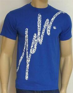 JSLV Jus Liv'n In Basic Script Tee Mens Blue T-Shirt New NWT
