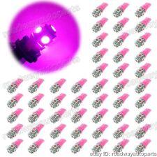 car pink led light Bulbs T10 194 168 2825 5x 5050 SMD LED Super Bright 50PCS