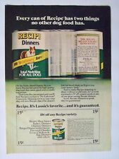 1976 Magazine Advertisement Page Recipe Dinners Canned Dog Food Coupon Lassie Ad