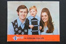 1973 ABA Utah Stars Vs. Carolina Cougars Official Program Guide Dealer Lot