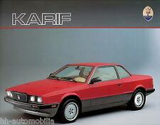 Maserati Karif Prospekt D 1990 brochure Auto PKWs Autoprospekt Broschüre Italien
