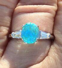 PLATINUM 3.43 CT. CERTIFIED GIA NEON POOL BLUE PARAIBA TOURMALINE DIAMOND RING!