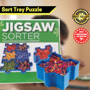 Sort Jigsaw Tray Puzzle Stackable Trays Organizer For Kids Go Toys AU Seller