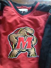 Maryland Terrapins UM Terps Pullover Lined Jacket Large L size 58 Sports.