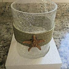 Yankee Candle Starfish Crackle Medium Jar Candle Holder  New In Box