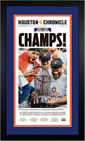 🏆 Framed Houston Chronicle Newspaper Astros World Series Edition in Blue NEW 🏆