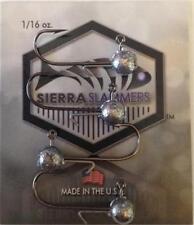 JIGHEADS 4 Pack of SIERRA SLAMMERS 1/16 oz #4 Hook Ball Head with Wire Keeper