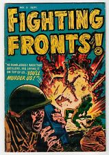 FIGHTING FRONTS #2 - Elias Cover & Powell / Nostrand Art - VG 1952 Vintage Comic