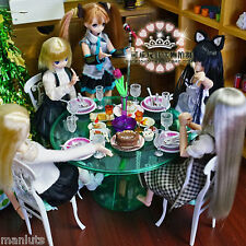 Green Dining Room Table Chair Ware Furniture Set 1/6 for Barbie Monster High MIB