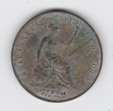 1854 Penny Queen Victoria United Kingdom UK Britain L-470