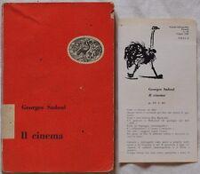 GEORGES SADOUL IL CINEMA CINEMATOGRAFIA CINEMA MUTO SONORO REGIA MONTAGGIO 1949