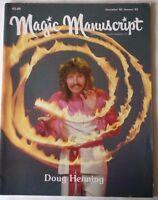 Rare Magic Magazine Magic Manuscript Doug Henning 1982 Magician Conjuring