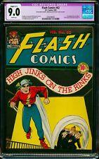 FLASH COMICS #62 CGC 9.0 NM (R) 1ST HAWKMAN BY JOE KUBERT DC GOLDEN AGE LIKE CGC