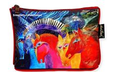 Laurel Burch Horses of Fire Foiled Organizer Bag Makeup Art Craft Meds NEW 2017