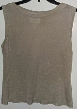 EUC Bahari Group Silvery Shimmery Sheer Dressy Crop Tank Size 4