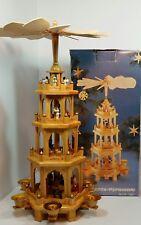 "Vintage #7961 Weihnachts Pyramid German Christmas Nativity 4 Tier Windmill 20"""