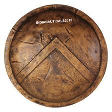 Medieval 300 Spartan Shield Dark Antique Brass Finish