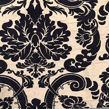 ❤️ SPRINGMAID Lynnwood Black Velvet Gold Brocade Damask Print King Pillow Sham