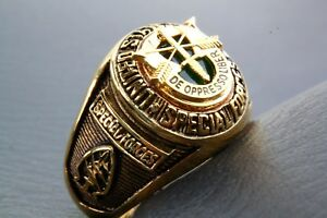 US Special Forces Special Unit Gold Plated Military Men's Ring 352