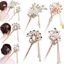 Elegant Girl Women Wedding Gift Hair Pins Colorful Hairpin Rhinestone Hair Stick