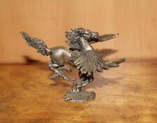 Vintage Pewter Pegasus Fantasy Figurine 1983
