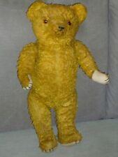 ANCIEN OURS NOUNOURS PELUCHE REMBOURRAGE PAILLE 54 CM OLD TEDDY BEAR
