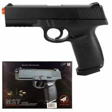 m27 spring airsoft black handgun gun 1 1 scale w/ bb's