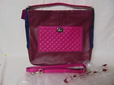 Coach - Park Quilted ColorBlock - Navy, Burgundy and Magenta Leather - F - 24981