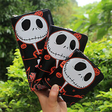 Hot The Nightmare Before Christmas Jack Skellington Wallet Fashion Purse 5 Style