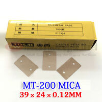 MT-200 Metal Case Power Transistor MICA Insulator Stiff Transparent x 100pcs
