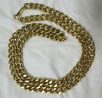 Vintage Gold Tone Carol Dauplaise 1/4 Inch Wide Chain Necklace