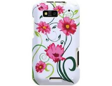 Plastic Design Protector Lovely Flowers For Motorola DEFY
