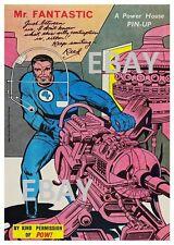 POWER PIN-UP Print - MR FANTASTIC Fantastic 4 Vintage Art Marvel UK Distribution