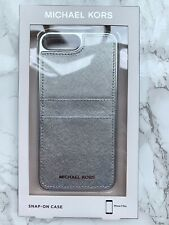 Michael Kors Leather Pocket Case for Apple  iPhone 8 & 7 Plus - Silver