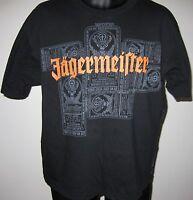 Adult Size Medium Jagermeister Stag Head Label Black Tee Shirt SS Distillery