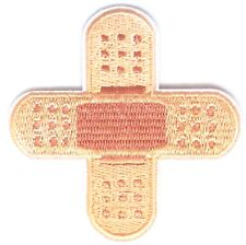Plaster Iron On Patch- Kids First Aid Band Aid Bandage Applique Crafts Badge Sew