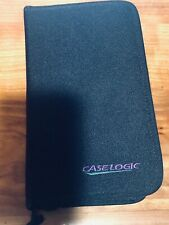 Case Logic Black MiniDisc MD Storage carrying case 6 page Holds 12 Discs.