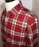 Banana Republic Shirt Long Sleeve Red Plaid Button Casual Mens Tailored Fit XL