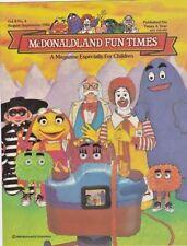 VINTAGE McDONALDLAND FUN TIMES 1986 Vol. 8 No.4 RONALD McDonald's