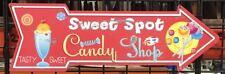 SWEET SPOT CANDY SHOP ARROW  SIGN