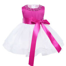 Vestido Elegante de Princesa Bautizo Boda para Bebé Niña Regalo Recién Nacido