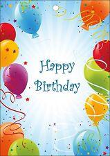 55 bunte Ballonflugkarten / Luftballon Karten für den nächsten Geburtstag