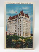 Vintage Winnipeg Manitoba Canadian National Railway Hotel Unposted Postcard E479